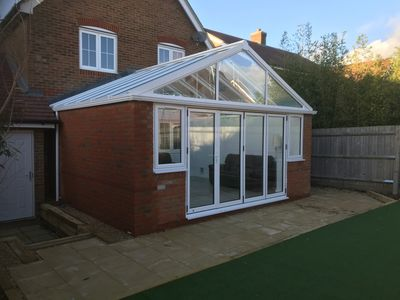 Lovely rear conservatory extension designed and built by mid sussex construction ltd