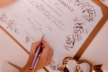 Marriage Ceremony Certificate as a beautiful Wedding Keepsake