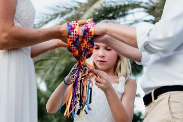 Bespoke Handfasting Ceremony in Dubai with Swedish Love Knots