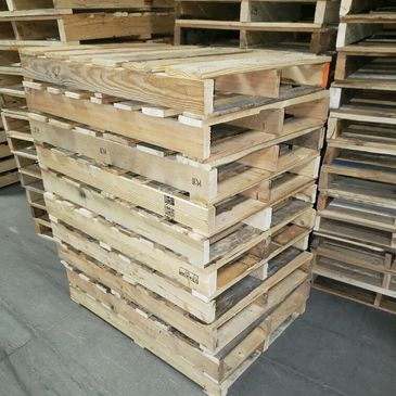 Custom pallets available, wooden pallets