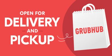 takeout to go grubhub contactless curbside pickup and delivery service available in all portland