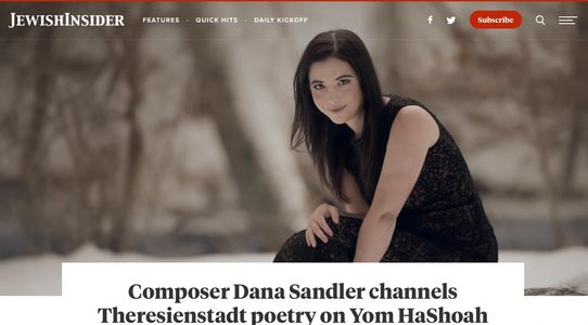Dana Sandler feature article Jewish Insider
