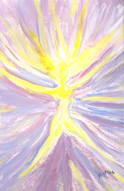 I was inspired to paint this during a Reiki session given to me by Patty Payne.  Victoria Meshaw