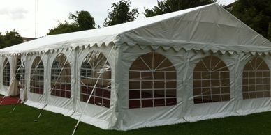 Clearspan marquee for hire in Lincolnshire