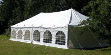 Traditional style marquee for hire in Lincolnshire