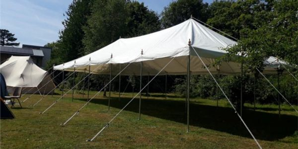 Traditional style marquee hire for vintage wedding hire in Lincolnshire.