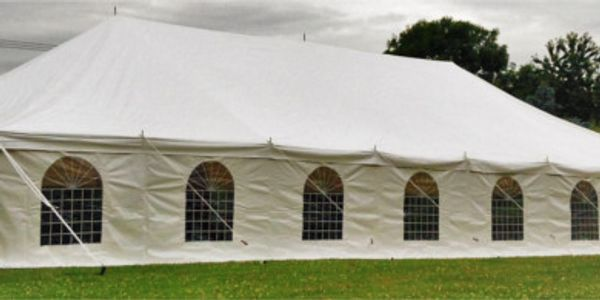 Vintage marquee hire in Lincolnshire for weddings and garden party events.