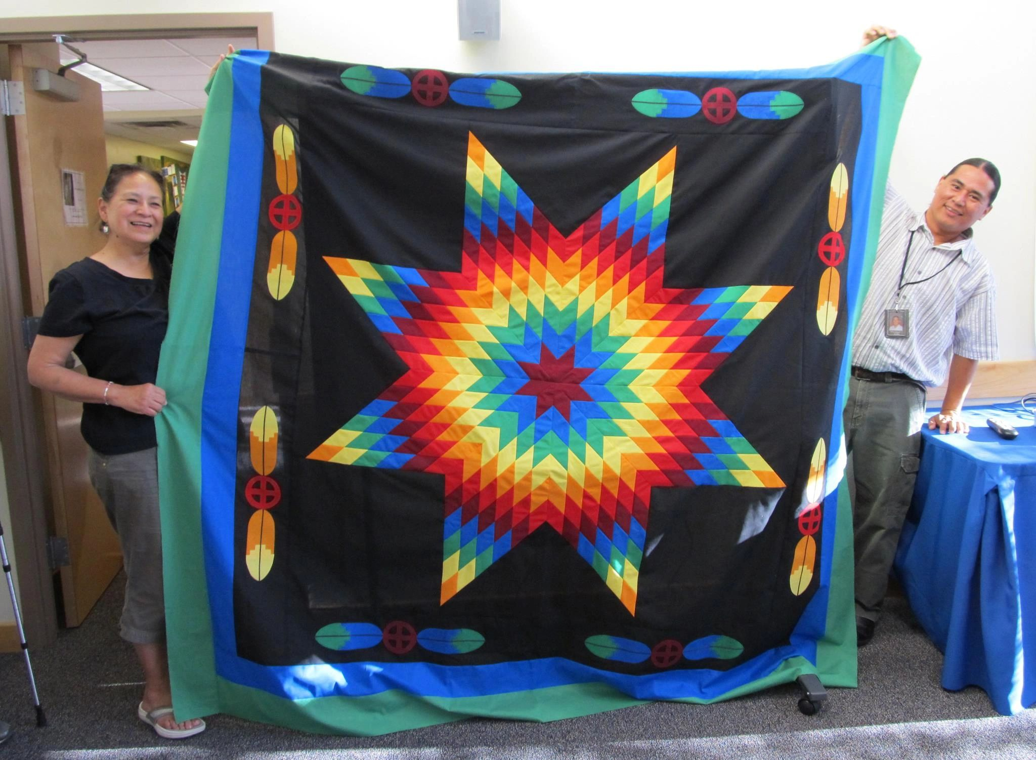 Diane's Native American Star Quilts.  https://www.dianesnativeamericanstarquilts.net