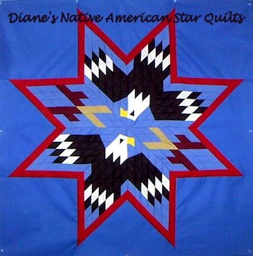 Dancing Eagles Pattern Diane's Native Star Quilts.  https://www.dianesnativeamericanstarquilts.net