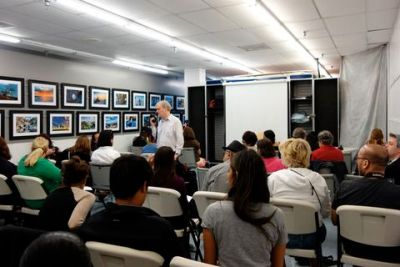 Barry teaching photography class at Bel Air Camera in Los Angeles