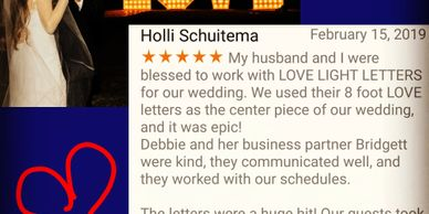 Holli & JT Barnes were our first wedding clients and we're thrilled with how they loved our letters!