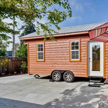 Come stay at our Tiny House in San Jose. One of our tiny houses was featured on Tiny House Hunters.