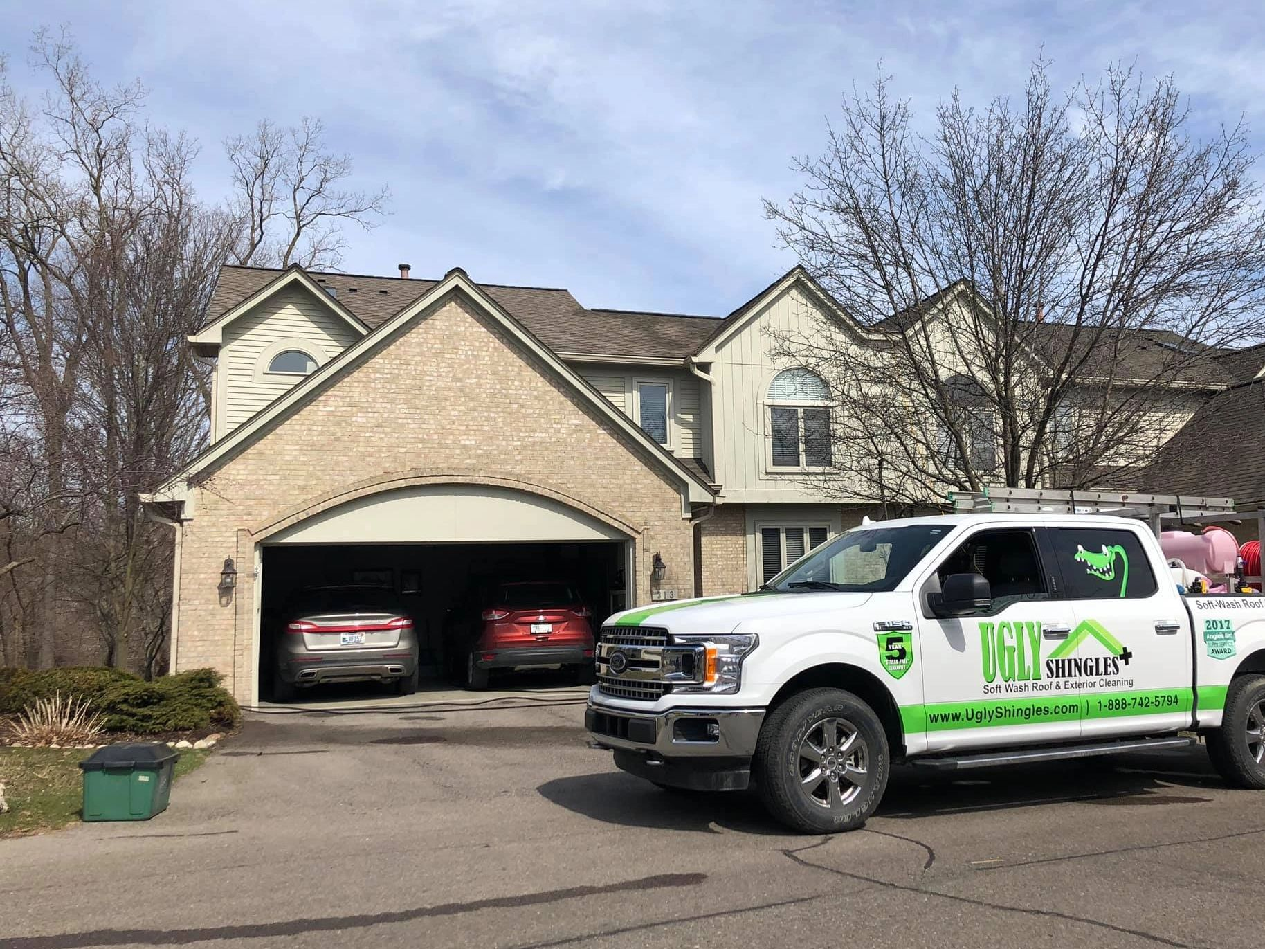 ugly shingles roof cleaning michigan softwash mold mildew algae exterior washing commercial hoa unit