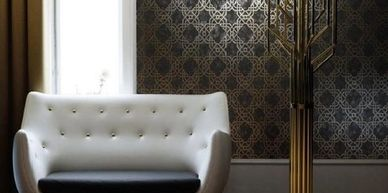 Geometric wallpaper from fabricwallpaperaustralia.com.au