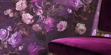 Dolce Vita Wallpaper from The Ivory Tower - fabric and wallpaper