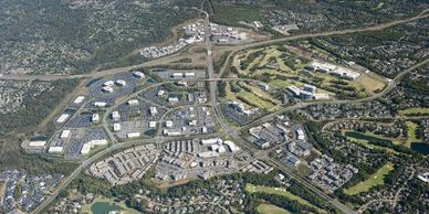 Aerial view of the heart of Ballantyne.