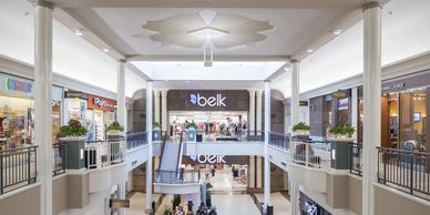 Interior photo of two level Carolina Place Mall.