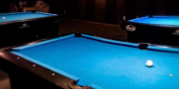 Diamond pool tables three billiards tables open pool hall drink rails play by the hour rent a table
