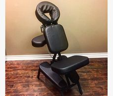 Chair massage at Goertzen Massage Therapy for low mobility
