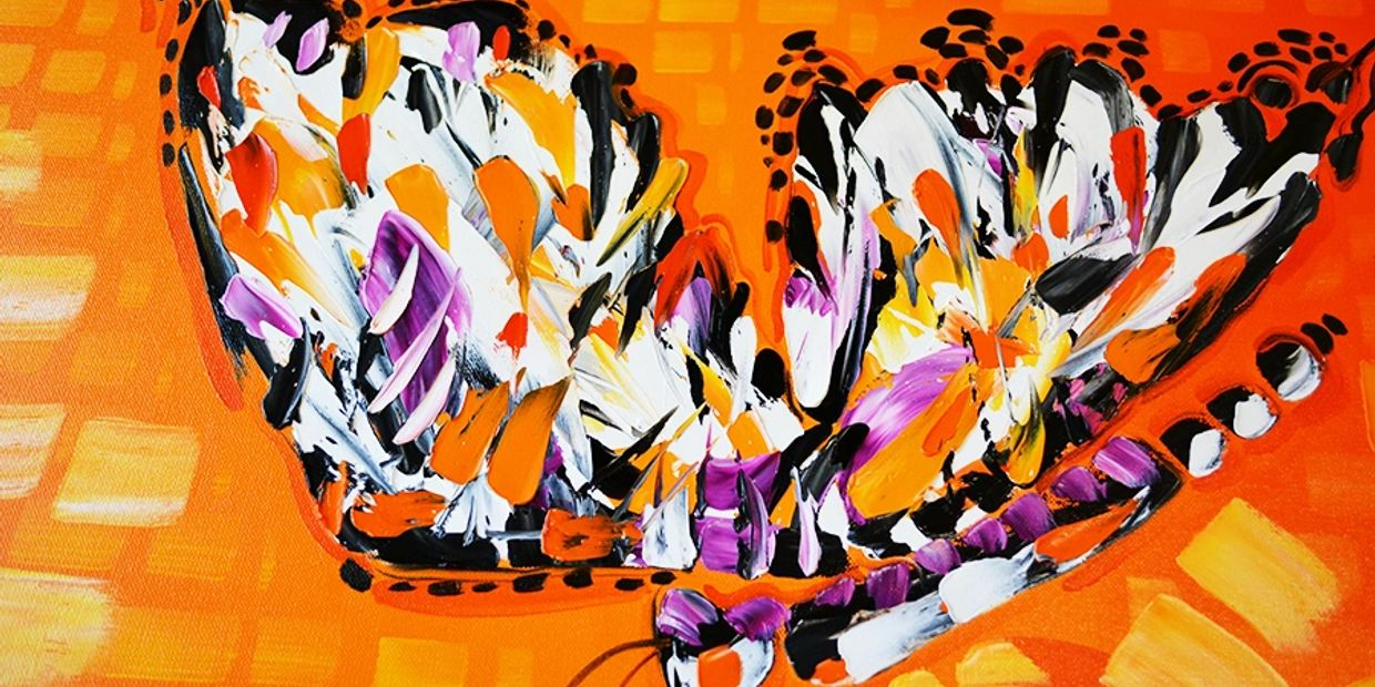 abstract art for sale of butterfly paintings by miami based artist laelanie larach