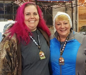 Kate and Susan Saline were First and Second Place winners respectively at the chili cook-off.