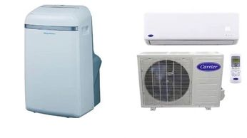 A/C options, garage conversion, portable AC, mini split A/c