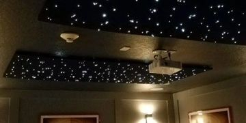 Home Theater, LED ceiling panels, Florida Villa Entertainment Services