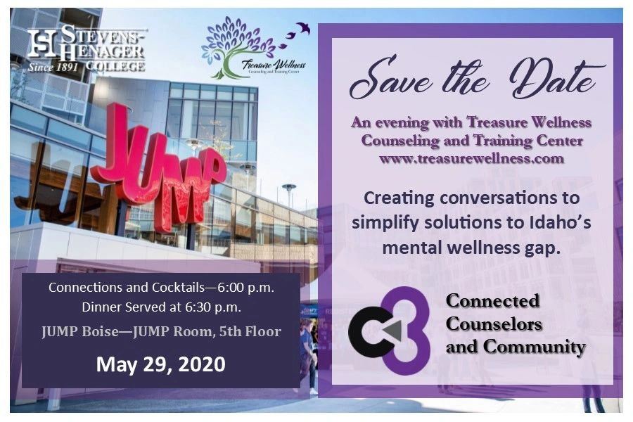 Save the Date Connected Counselors and Community Fundraising Gala Mental Wellness