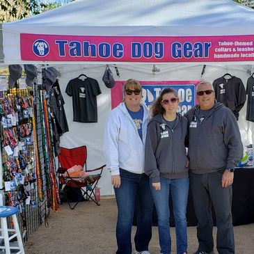 Tahoe Dog Gear dog collars and leashes at a festival booth