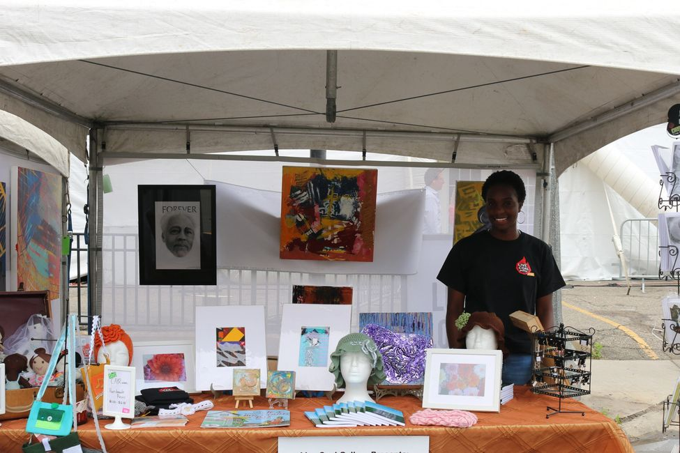 Find us at events where we sell art and handmade goods by local children and professional artists.