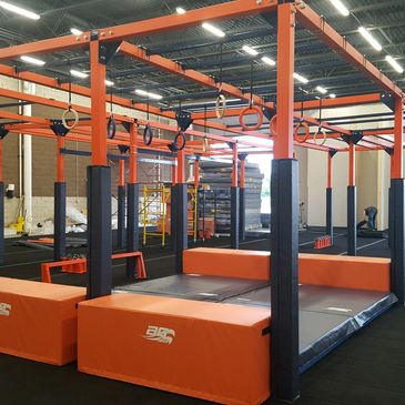 Adult obstacle course. Head to Head. Ninja Gym. Racing. Fitness.