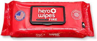 Hero Wipes cancer decon ewg certified firefighter