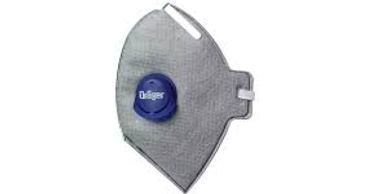 Drager X-plore 1750 mask with exhalation valve and odor filter