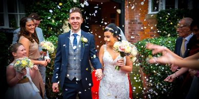 Creative wedding videography based in Shropshire, filming creative award winning ,wedding films