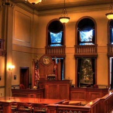 Cole County Courtroom Interior