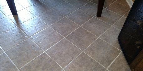 Tile and Grout After Thorough Cleaning