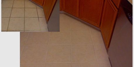 Grout color sealant makes grout easy to clean