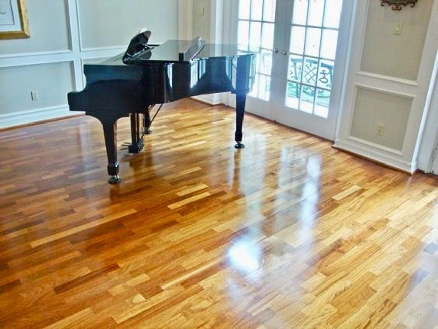 Wood Floors after Cleaning and Sealant application