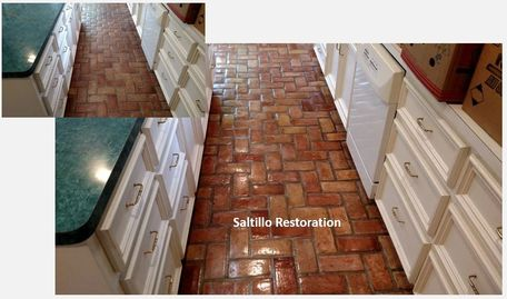 Before and After Saltillo restoration