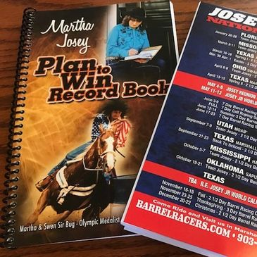 Martha Josey custom cover Barrel Racing and Rodeo Record Book - Plan to win Record Book