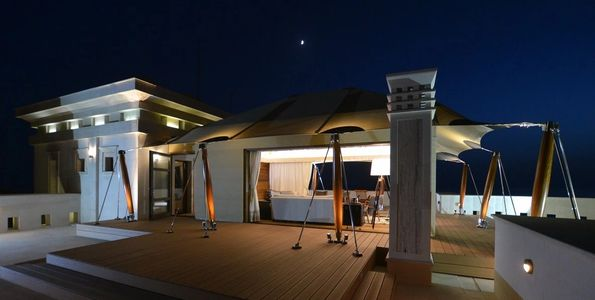 Large Canopy shade structure providing sun shade and patio shade by Shadeports Plus Cyprus.