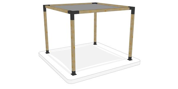 3m x 3m freestanding pergola kit by Shadeports Plus, Cyprus(Side View 1)