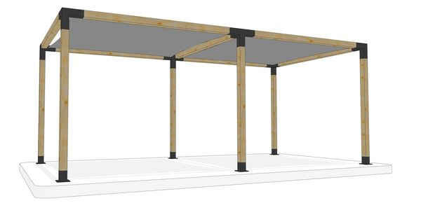3m x 6m freestanding pergola kit by Shadeports Plus, Cyprus (Side View 2).