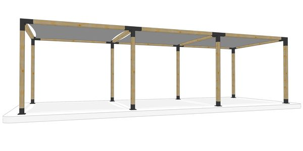 3m x 9m freestanding pergola kit by Shadeports Plus, Cyprus (Side View 2)