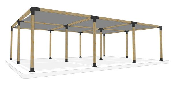 6m x 9m freestanding pergola kit by Shadeports Plus, Cyprus (Side View 2)