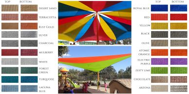 Colour choices for shade net by Shadeports Plus Ltd, Cyprus.