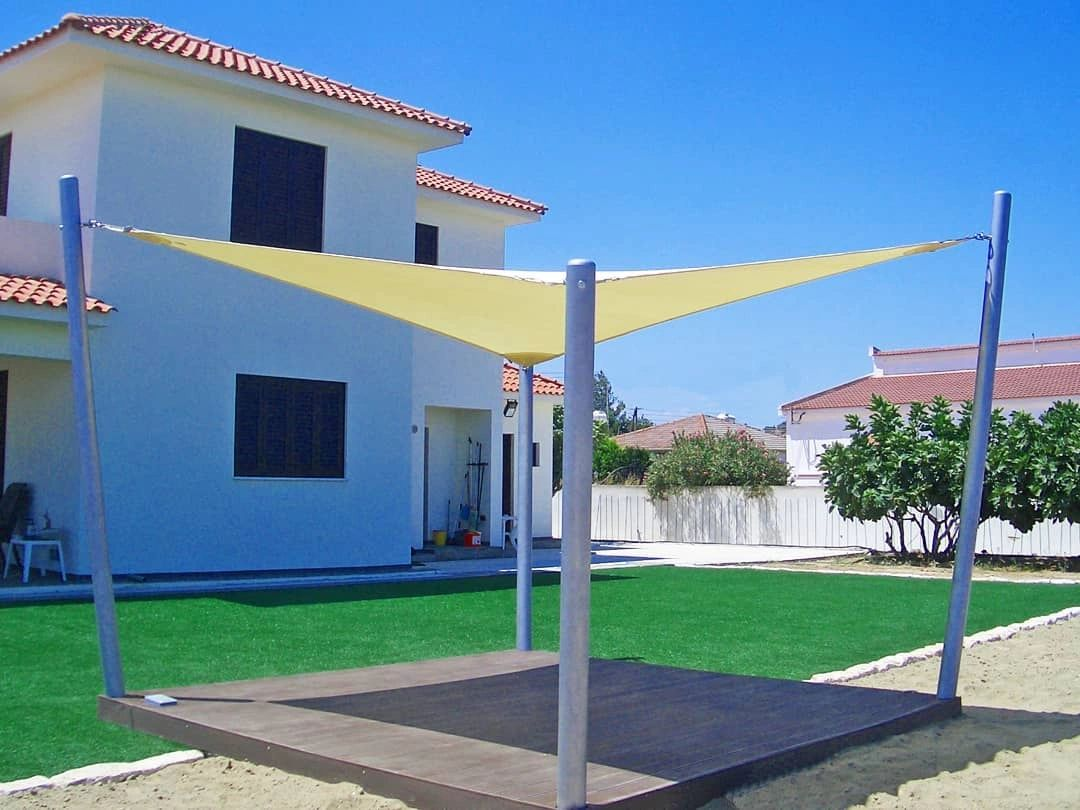 Outdoor Shade Sail providing shade by Shadeports Plus