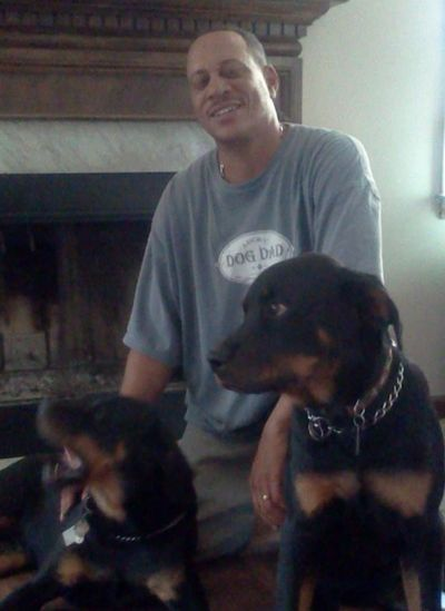 """Grandpaws"" James Brooks with Baby Bear and Sampson Bear"