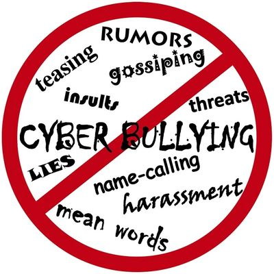 No Bullying, cyberbullying, harassment, name-calling, threats, gossiping, lies, etc.