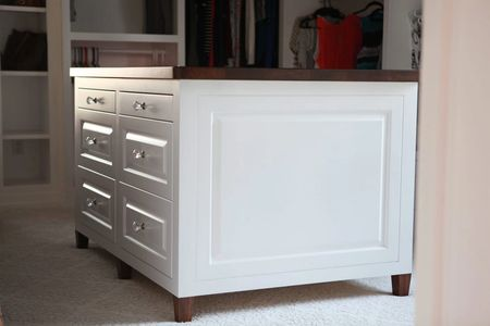 Custom Island, closet furniture